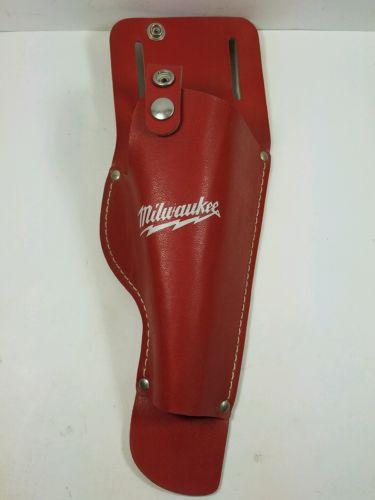Milwaukee 49-17-0240 Leather Drill Tool Holster w/ Strap - Never Used        T-4