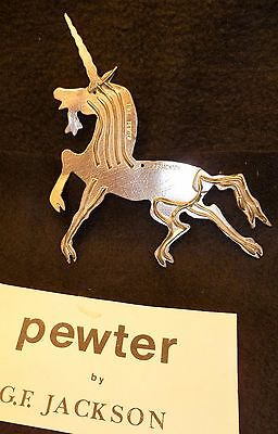 Pewter Unicorn Handcrafted Year 'Round Ornament by G.F. Jackson