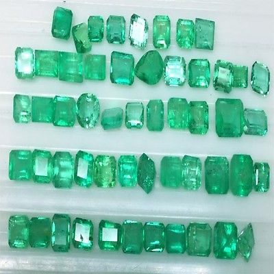 11.70 cts WONDERFUL  NATURAL  EMERALD COLOMBIAN MIX SIZE PARCEL GEM