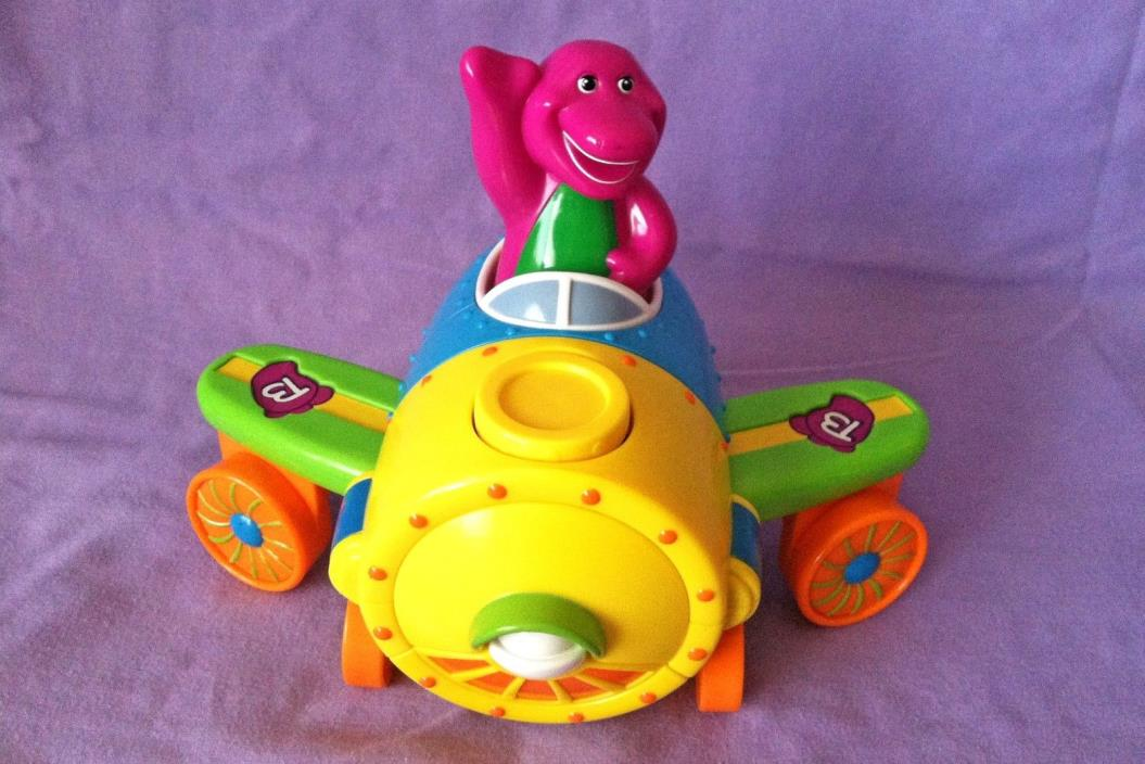 Barney Talking Plane Train Transforms Sounds Vehicle PBS Kids