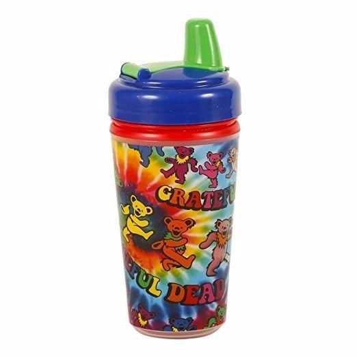 Grateful Dead Tie Dye Dancing Bears Sippy Cup Rock N Roll