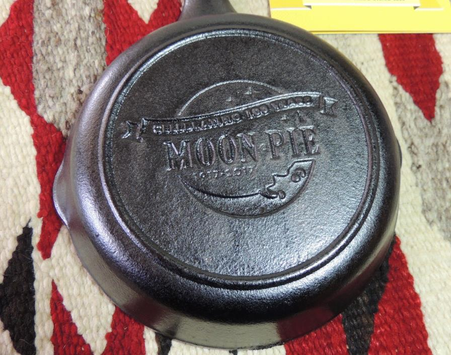 Moon Pie Celebrating 100 Years Advertising Logo Cast Iron SKILLET Unmarked LODGE