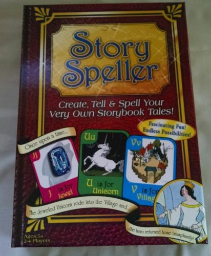Story Speller board game *missing pieces* kids 5+ create, tell and spell tales