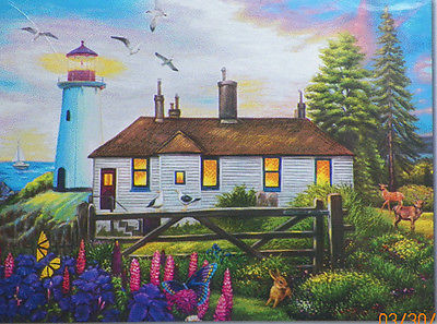 PUZZLE...JIGSAW....ART....HARRISON..Cozy Inn Lighthouse...500 Pc...Sealed