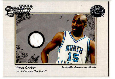 Vince Carter         Game worn shorts card