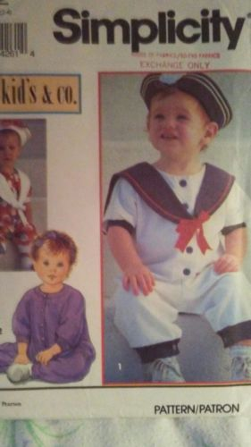 Vtg Simplicity 8512 childs Sailor Romper & Hat sz 2-4 Uncut