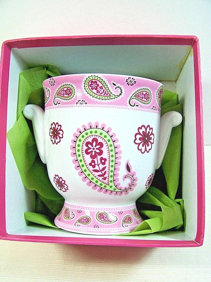 Vera Bradley Bermuda Pink Vase Pot Plant Potpourri Andrea by Sadek