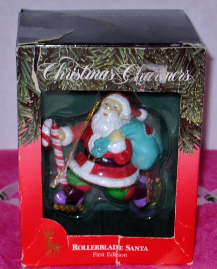 Roller blade, First Edition, Santa's Best, Christmas Charmers Ornament 1992