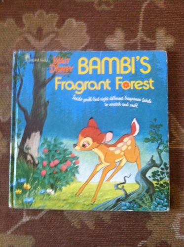 Walt Disney BAMBI'S FRAGRANT FOREST Scratch & Sniff Children's Hardcover Book