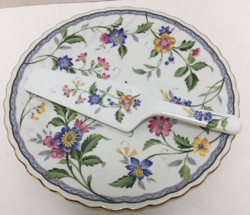 Vintage Porcelain Cake Plate and Server Japan Federated Department Stores