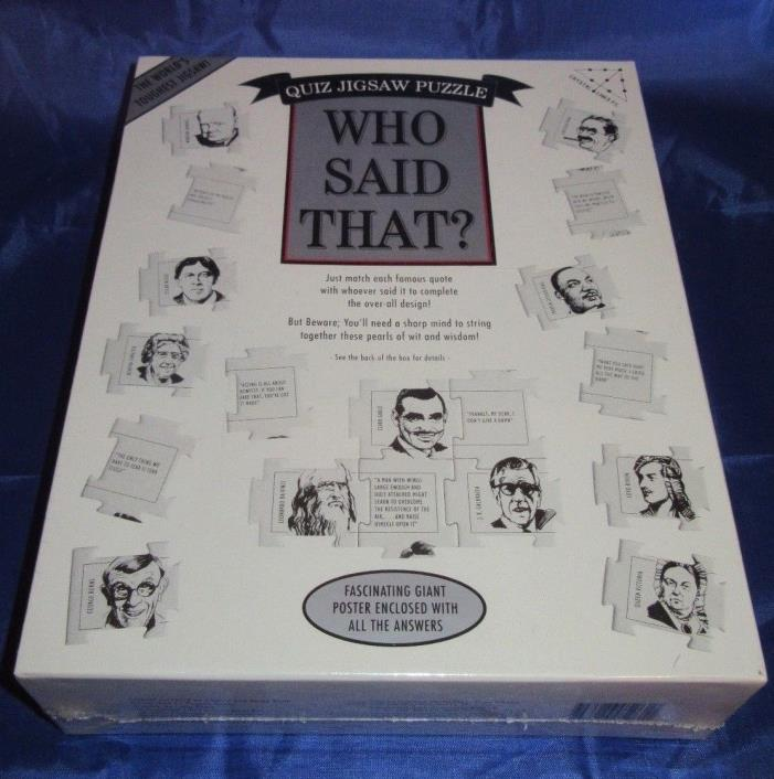 Who Said That? Quiz Jigsaw Puzzle 1994  New 504 Pieces