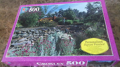MB 500 piece CROXLEY : Perennial Wallflowers.  Used.  Puzzle is complete.
