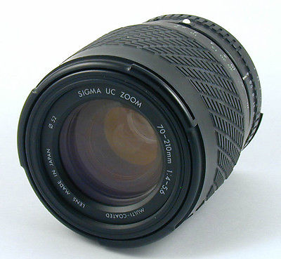Sigma UC Zoom 70-210 mm f/ 4-5.6 Manual Focus Camera Lens