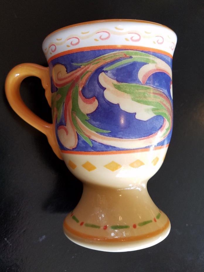 Pfaltzgraff Villa della Luna 12 oz footed pedestal mug(s) 2004 Kolpen&Tiegreen