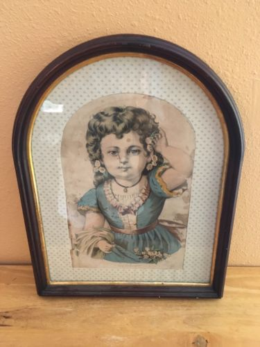 Vintage Cherry Wood Picture Frame 19