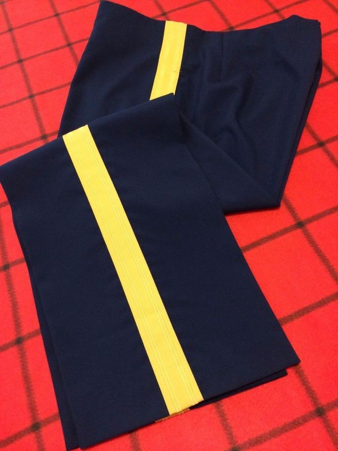 PATROITS US Army Men's Dress Blues Service Uniform Trousers Pants no/beltloops