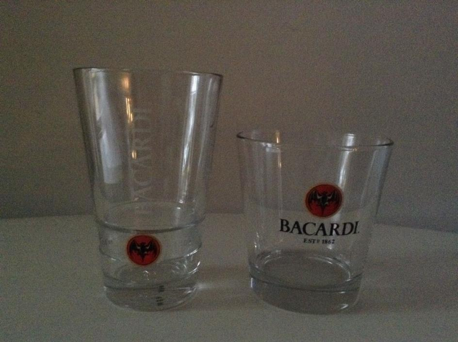 BACARDI Bat Glass Set of 2
