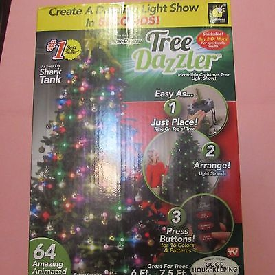 TREE DAZZLER NIB INCREDIBLE CHRISTMAS TREE LIGHT SHOW 16 COLORS AND PATTERNS