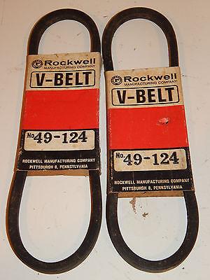 2 Vintage Rockwell V- Belts  49-124