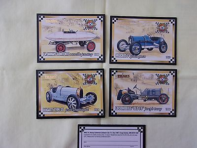 4 Valvoline's Racing Centennial Cards 1994 by TRAKS Unopened