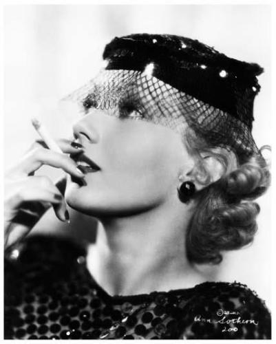 ANN SOTHERN great 8x10 portrait still with cigarette -- b100
