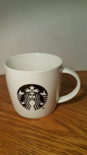 ORIGINAL STARBUCKS 2015 WHITE CERAMIC 14 OUNCE COFFEE MUG