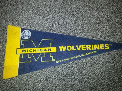 Michigan Wolverines mini pennant