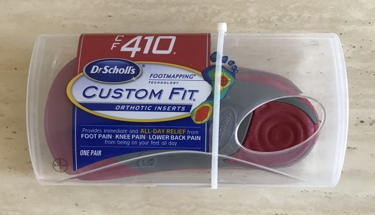 NEW - 100% Authentic Dr Scholls CF 410 Custom Fit Orthotic Inserts Shoe Insoles