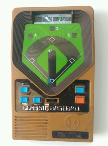 Mattel handheld baseball game