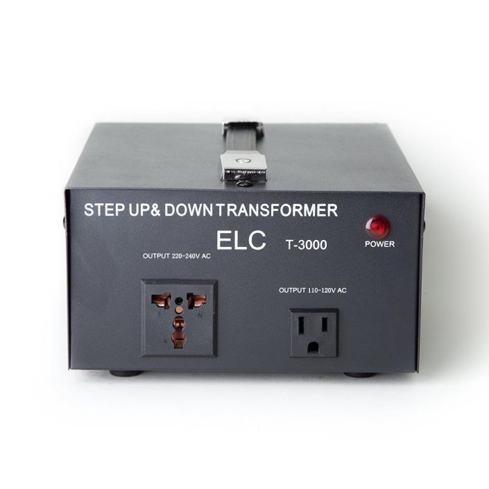 ELC T-3000 3000Watt Voltage Converter Transformer-Step Up/Down (110V/220V)
