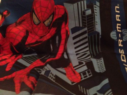 2002 SPIDERMAN Pair of Double Sided Pillowcases Standard Size 2 Cases