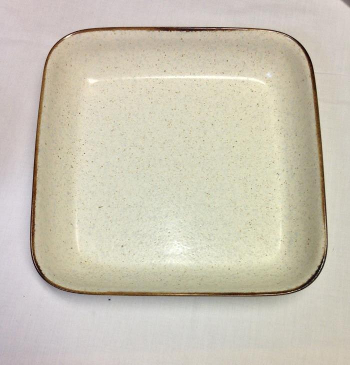 Vintage Mikasa Intaglio Sandstone CAC68 Square Baking Pan 10.5