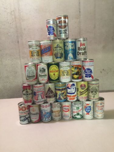 Old Beer Can LOT-28-Empty Beer Cans steel & Aluminum cans