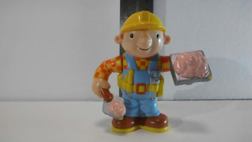 Bob the builder figure with mortar