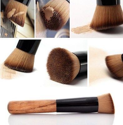 Professional Cosmetic Makeup Tool Kabuki Powder Blush Foundation Flat Top Brush