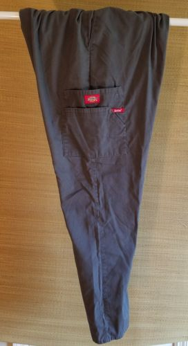 Dickies Pull-on Cargo Scrub Pants Women's Sz Large Uniform Bottom Pewter 86106