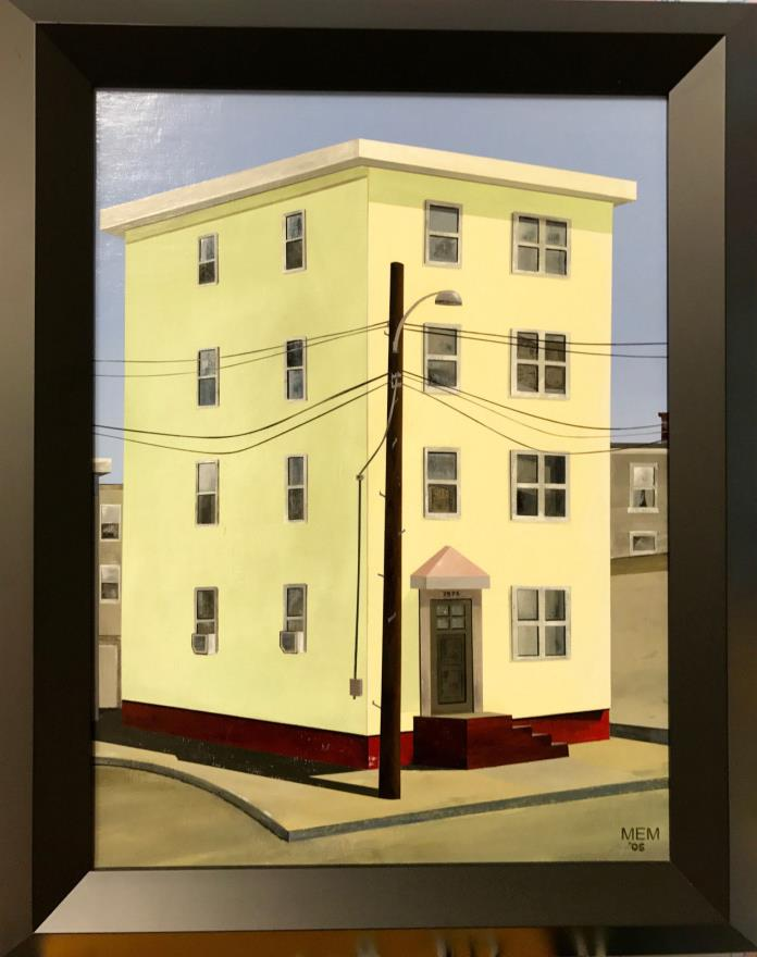 Joey Costello's House - Oil Painting on Canvas by Regional Atlanta Artist MEM