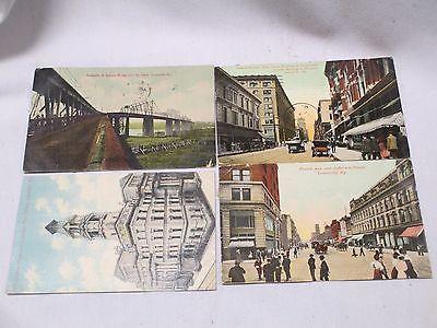 1911 LOUISVILLE KY KENTUCKY POSTCARD LOT OF 4 STREET SCENE OHIO BRIDGE ETC.