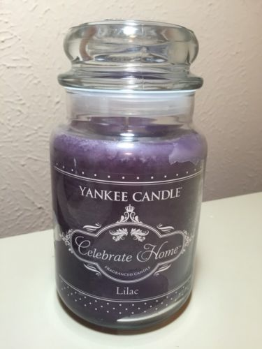 Yankee Candle 22oz Celebrate Home Lilac Retired Design Large Jar New