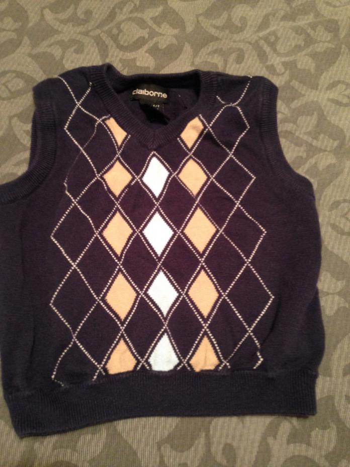 Claiborne Boy's Sweater Vest Size 6-7