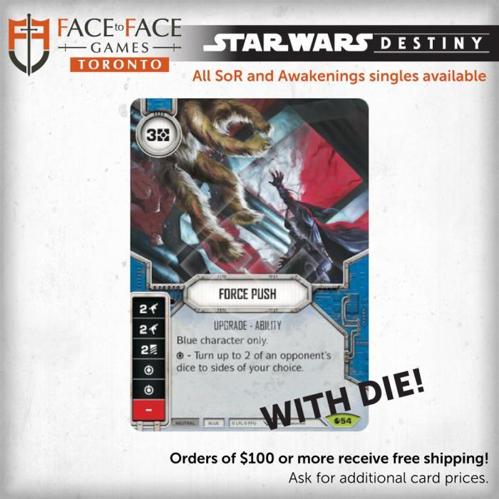 Star Wars Destiny Spirit of Rebellion Singles - 054 Force Push