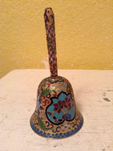 Vintage Enamel Coated Brass Dinner Bell