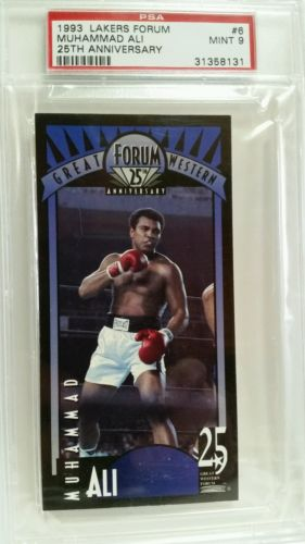 MUHAMMAD ALI  1993 Lakers Forum 25th Anniversary #6  PSA 9 MINT