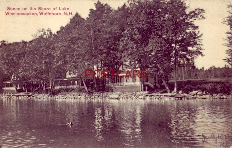 1907 SCENE ON THE SHORE OF LAKE WINNIPESAUKEE, WOLFEBORO, N.H.