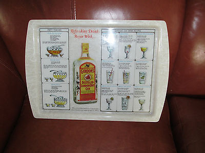 VINTAGE GORDONS GIN SERVING TRAY