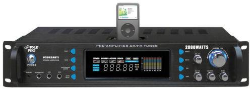 P2002ABTI Pyle 2000W Hybrid Receiver & Pre-Amplifier w/ AM-FM Tuner & Bluetooth