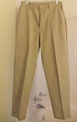 NEW!  Men's RED KAP 33/34 Khaki work / casual slacks PANTS - Inseam 33.5