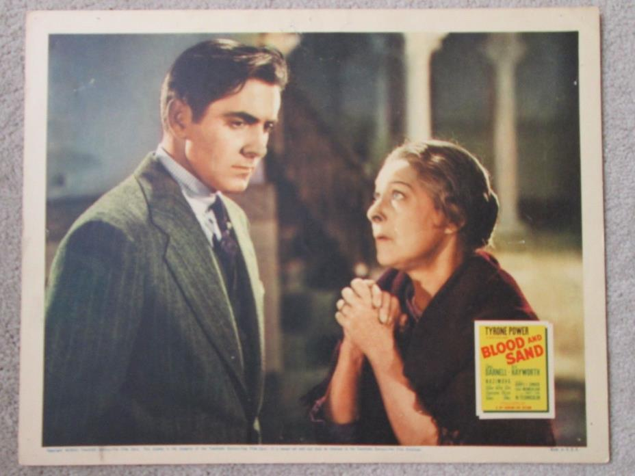 Blood And Sand - Original 1941  Lobby  Card - Tyrone Power