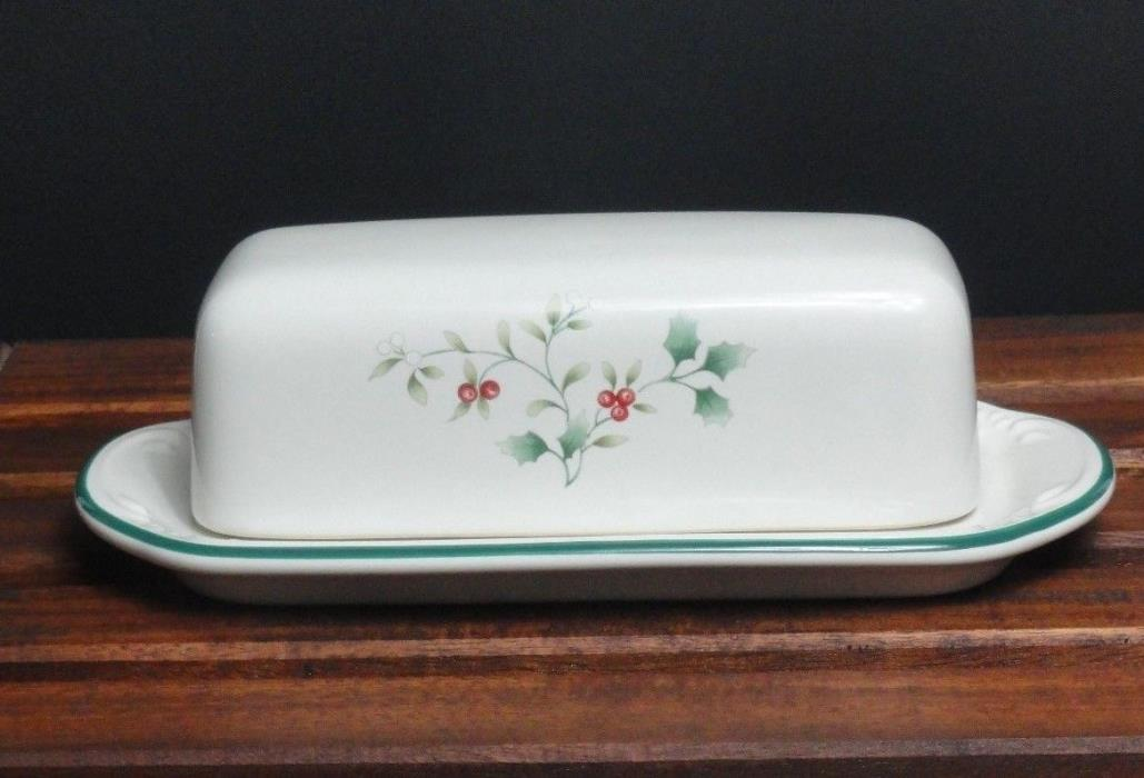 Pfaltzgraff Winterberry Covered Butter Dish 2 Pc (B495)