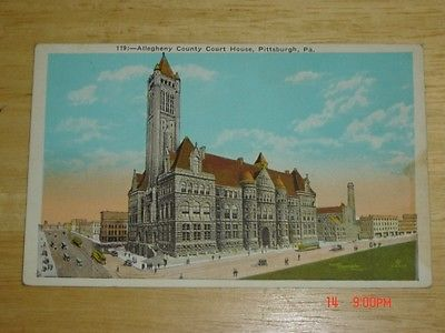 VINTAGE ALLEGHENY COUNTY COURT HOUSE PITTSBURGH PA POSTCARD